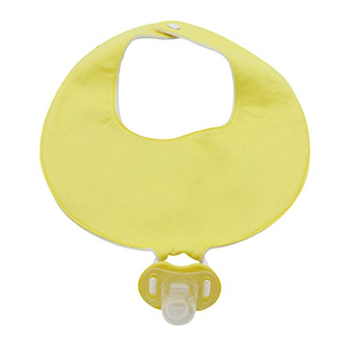Xiang Ru Multifunctional Waterproof Saliva Towel Bib with Teether Holder Clip for Babies Yellow ()