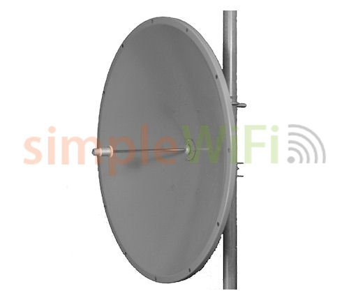 Parabolic Single Polarity 32dBi Dish 5GHz Antenna