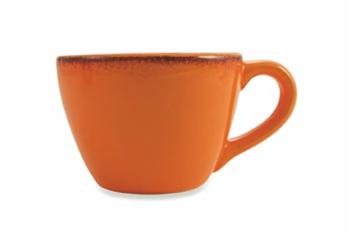 Villa d 'Este Home Tivoli Baita Mug with Filter, Dolomite, Orange