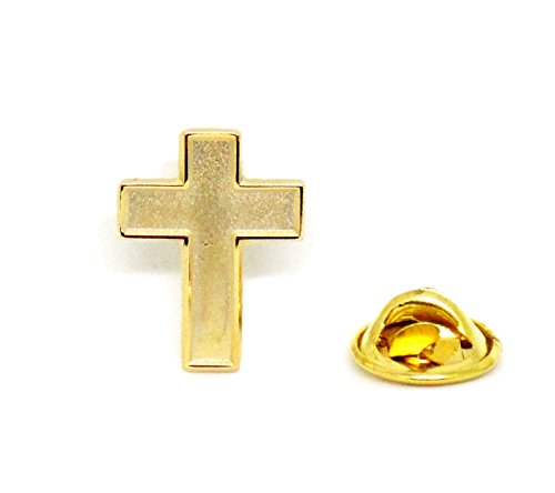 Chaplain Gold Finish Cross - Religious Christian Latin Official Lapel Pin (Iron Cross Back Bumper compare prices)