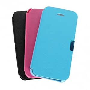 Ultra-thin Magnetic Buckle Folio Leather Case Cover For iPhone 5C --- Color:White