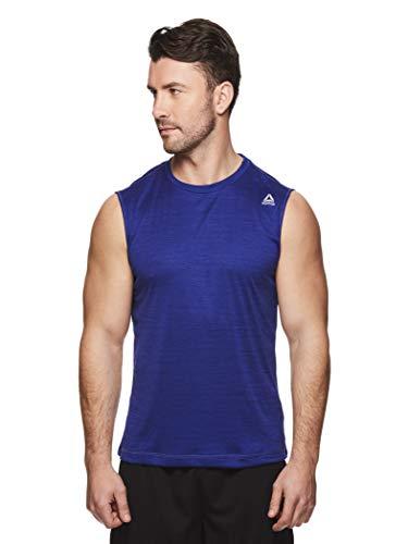 - Reebok Men's Muscle Tank Top - Sleeveless Workout & Training Activewear Gym Shirt - Charger Streak Heather, Medium