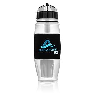 Alexapure Go Water Filtration System 28 oz Sport Bottle