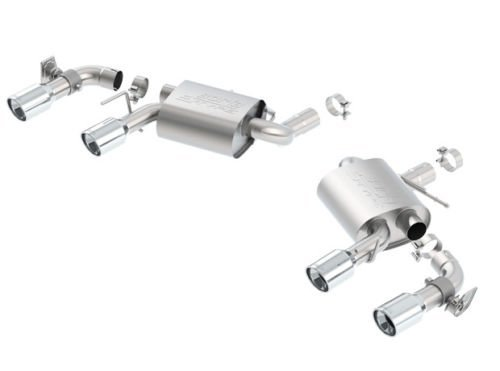BORLA 11924 Rear Section Exhaust S-Type for 2016 Chevy Camaro SS 6.2L w/NPP