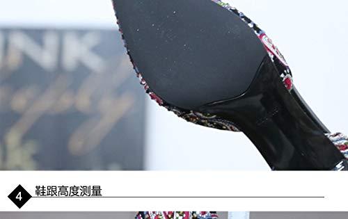 Femmes Été Et 38 Pointues En Talons Hauts Cloutés À Zzdsh Printemps Aiguilles 36 Chaussures Sauvages wtZ0x