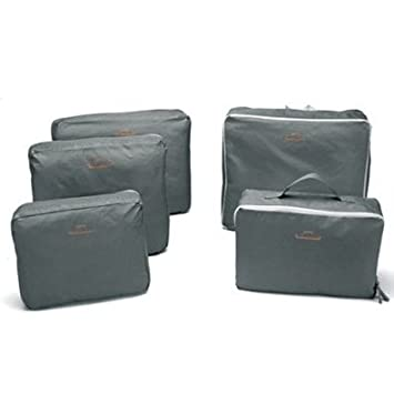 Bags-in-Bag Travel Organizer Light Grey (set of 5): Amazon.in ...