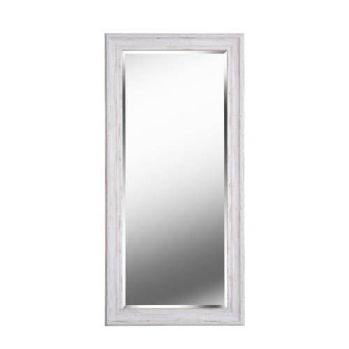 Kenroy Home 60351 Warren Floor Mirror, 65 x 31 Inch, White Wood Finish