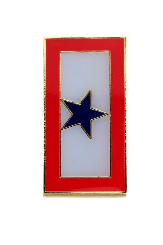 (Blue Star Flag Banner Lapel Hat Pin Marines Army Navy Air Force PPM4899)