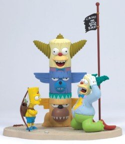 McFarlane Simpsons Bart & Krusty Figure - Series 1