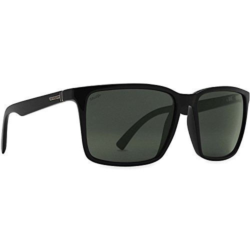 VonZipper Mens Lesmore Polarized Sunglasses, Black Smoke Satin w/Wildlife Vintage Gray, One - Sun Vonzipper Glasses