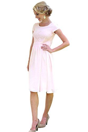 Isabel Modest Dress in Light Pink - S Modest Lace