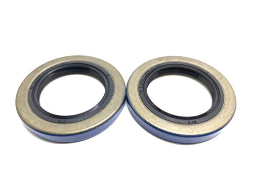 WPS (Pack of 2) Trailer Axle Hub Wheel Grease Seal 12192TB, 2000-2200# Double Lip 1.249'' X 1.983''