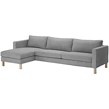 Sofa Cover only! Dense Cotton Karlstad Three Seat Sofa and Chaise Lounge  Cover Replacement. Width: 282CM, Not 244CM! IKEA Karlstad Slipcover. Sofa  ...