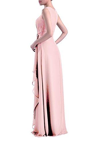 Formale Brautjungfer Kleid Chiffon besonderen Anlass lange Mutter der Braut Br?utigam Kleid, Farbe T¨¹rkis, 10