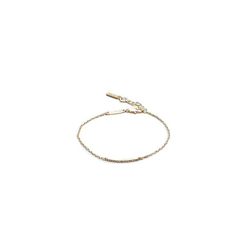 Kenneth Cole Ladies Bracelet - Kenneth Cole New York Women's Gold Tone Bar Anklet, Crystal, One Size