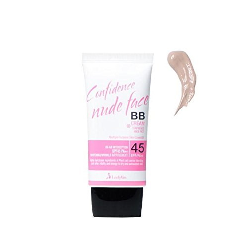 Ladykin Confidence nude face BB Cream 1.35oz, Perfect cover SPF 45+PA++ #1. Pink Beige. Smoothers Lightweight BB Cream. Made In Korea. Korean skin care. Korean Beauty