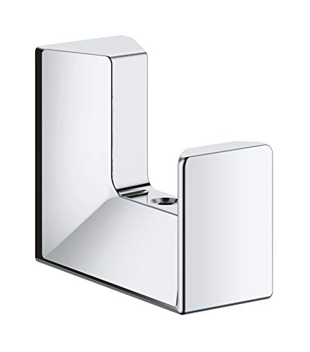 Grohe 40782000 Selection Cube Robe Hook Starlight Chrome