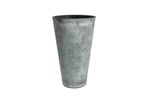 Algreen 46637 Round Tapered Vase Planter, Artistic Grey