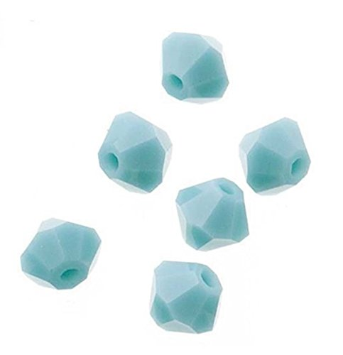 (100pcs Genuine Preciosa Bicone Crystal Beads 4mm Turquoise Opal Alternatives For Swarovski #5301/5328 #preb446)