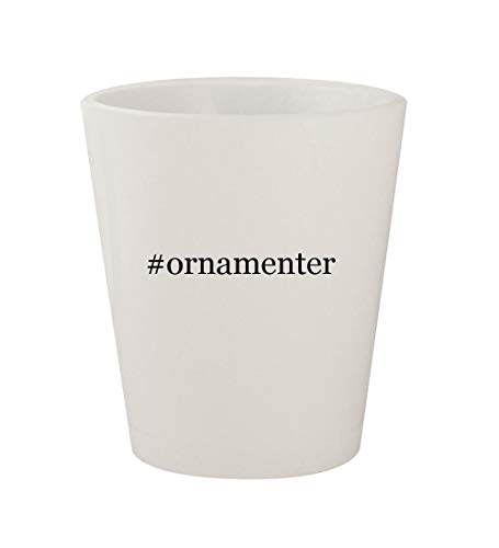 #ornamenter - Ceramic White Hashtag 1.5oz Shot Glass