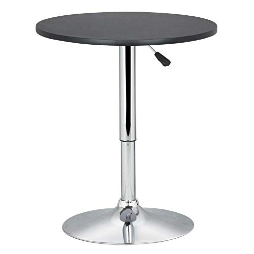 Round Pub Table Bar Height Adjustable 360 Swivel Bar Tables Tall Cocktail Tables (Set Regency Table Pub)
