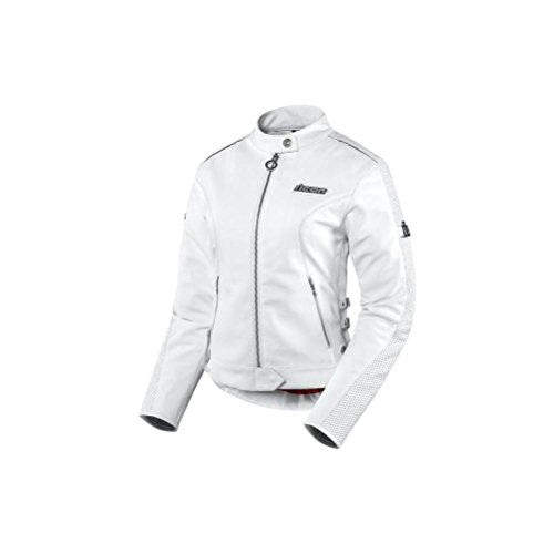 Icon Hella Womens Leather Jacket , Gender: Womens, Apparel Material: Leather, Size: Lg, Primary Color: White, Distinct Name: White 2813-0450