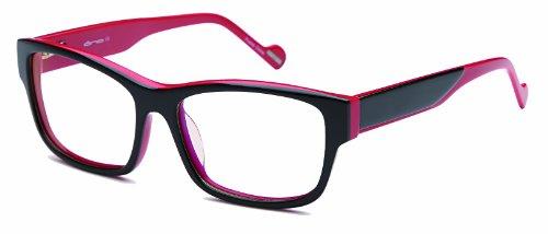 Womens Futuristic Two Tone Prescription Eyeglasses Rxable 54-16-140 in ()