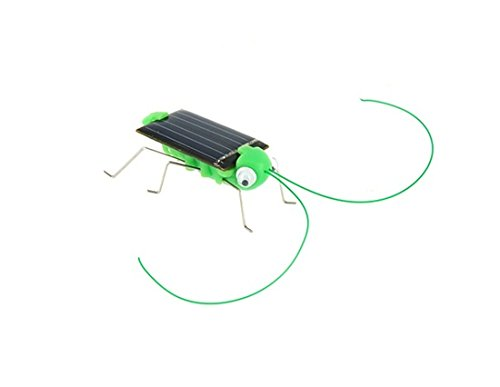 Solar Powered Grasshopper Toy (Green)
