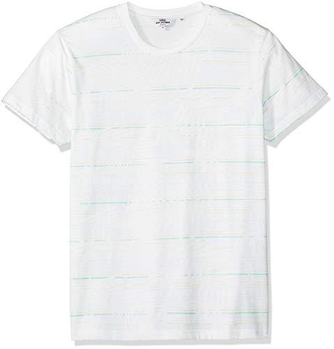 Ben Sherman Men's Palm Striped Styled TEE, White M