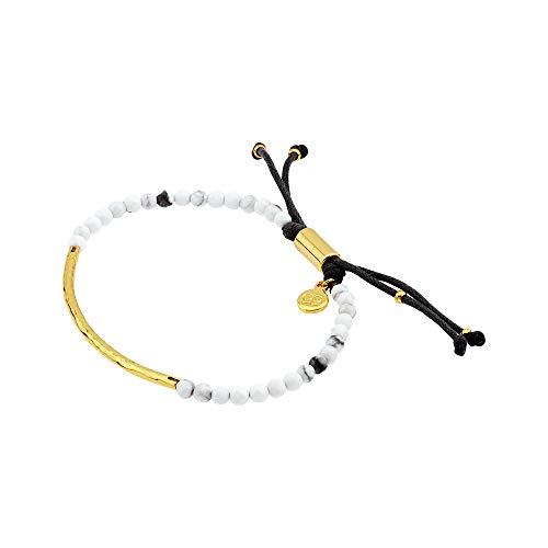 - gorjana Women's Power Gemstone Bracelet for Calming, Gold/Howlite, One Size