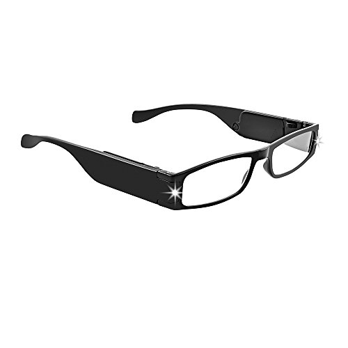 Up Panther Close Black (Panther Vision LIGHTSPECS LightWeight Ultra Bright LED Rectangular Reading Glasses)