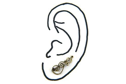 Boucles d'oreilles liaton avec sans pierre 8 x 20 mm