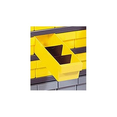 - Closed Shelving Storage System with Euro Drawers Bin Color: Yellow, Bin Dimensions: 4 5/8