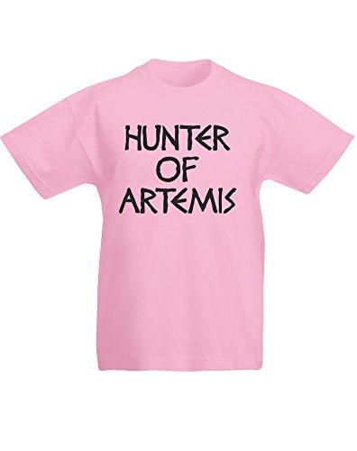 - Hunter of Artemis, Kids Printed T-Shirt - Light Pink/Black 3-4 Years