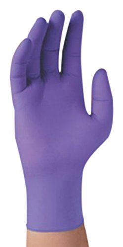 Halyard Health 50853 NITRILE Exam Glove, Non-Sterile, Cuffed and Walleted, 9.5