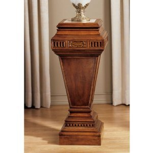 Marble Topped Hand-carved Column Stand Pedestal Tapered Pedestal