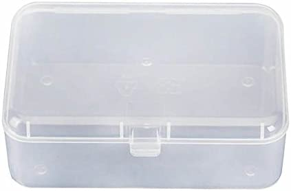 Small Transparent Plastic Storage Box Clear Square Collection Container With Lid