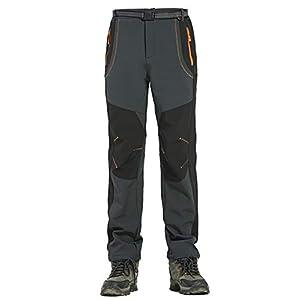31osNUzf2QL. SS300 Alleza Pantaloni Softshell Uomo Invernali Impermeabile Slim Fit Fodera in Felpa Sport Outdoor da Bici Trekking…