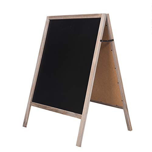 rhf sandwich board chalk board sign sidewalk sandwich chalkboards sign rustic freestanding a. Black Bedroom Furniture Sets. Home Design Ideas
