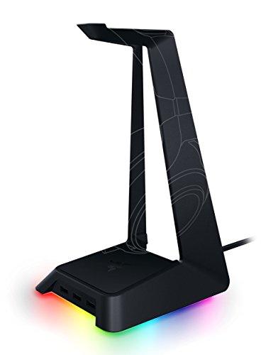 Razer Base Station Chroma - Soporte para auriculares - Iluminación Chroma RGB - 3 puertos USB 3.0 - Base de goma antideslizante - Diseñado para auriculares para juegos