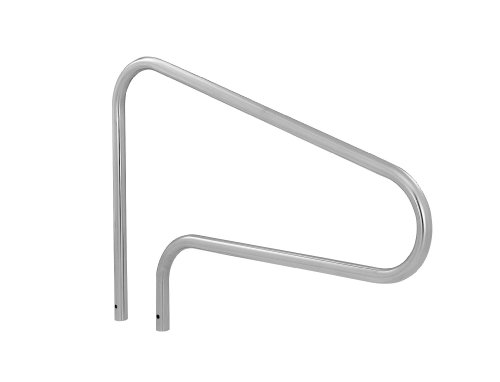 (S.R. Smith DMS-100A 3-Bend Deck Mounted Swimming Pool Handrail, Stainless Steel)