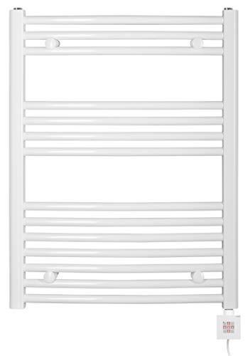 Eléctrico baño Radiador, diseño curvado, color blanco, incluye varilla de calefacción y varios