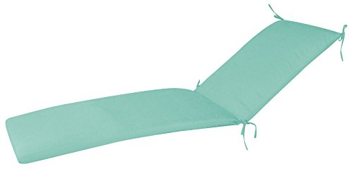 - FiberBuilt Umbrellas WD01CC-48020 Chaise Cushion with Knife Edge Patio and Lawn Furnture with Sunbrella Fabric, Mist