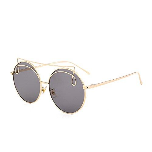 NIFG lunettes rue de E coloré Lunettes 135 ronde mode 145 Amérique Europe et soleil 59mm cadre de tir soleil unisexe r7rRwqg