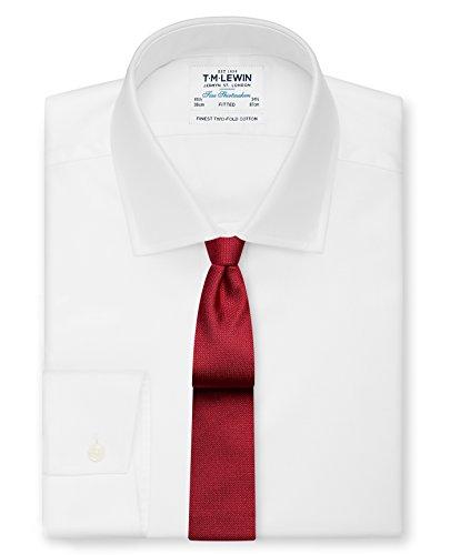 Textured Slim Silk Red Lewin M Men's Tie T vqfw11