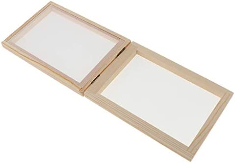 Paper Making Kit A Very Easy Way to Make Paper at Home 2 Sizes Papermaking Screen Frame and Deckle and Mold Kits Supplies for Kids Adults