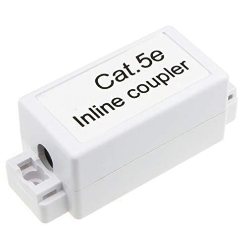 kenable Inline Punch Down Coupler for LAN Cables CAT5e White