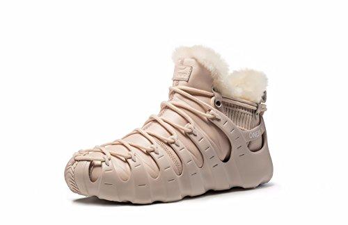Onemix Zapatillas De Deporte Con Forro De Piel Para Mujer, Tres Formas De Llevar Zapatos Romanos, Botines De Tobillo Altos De Invierno Dorados