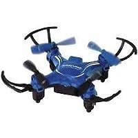 PCT Brands Zero Gravity Mini Pocket Drone 4 Channel 6 Axis Gyro RC Micro Quadcopter, Blue, Small