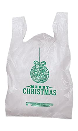 100 christmas holiday plastic t shirt bags ForHoliday T Shirt Bags